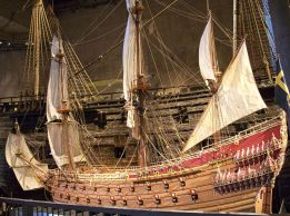 A scale model of the Vasa.